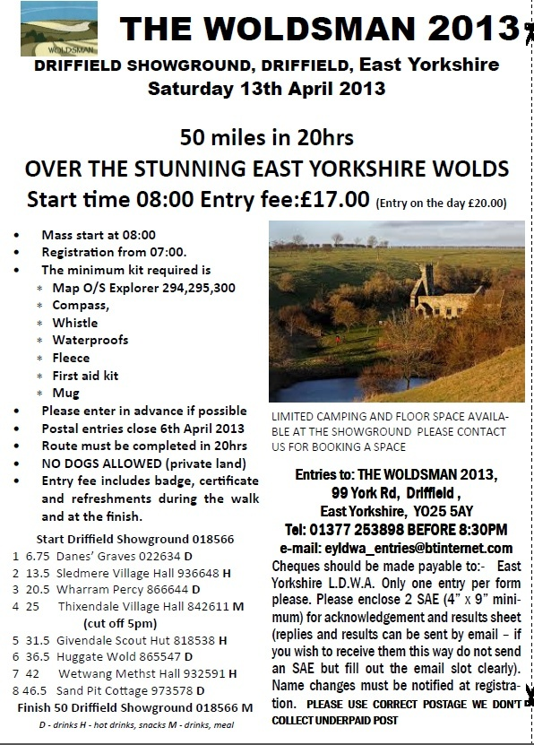 """""""The Woldsman 2013""""(GB) 50 miles/20 heures: 13 avril 2013  Woldsm10"""