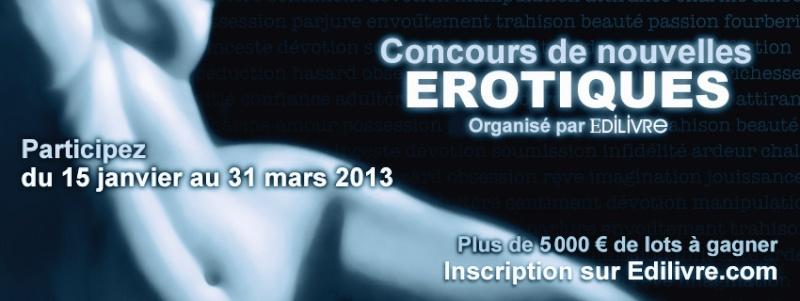 [Informations] Concours de nouvelles Erotiques Edilivre du 15 janvier au 31 mars 2013 Bannia10