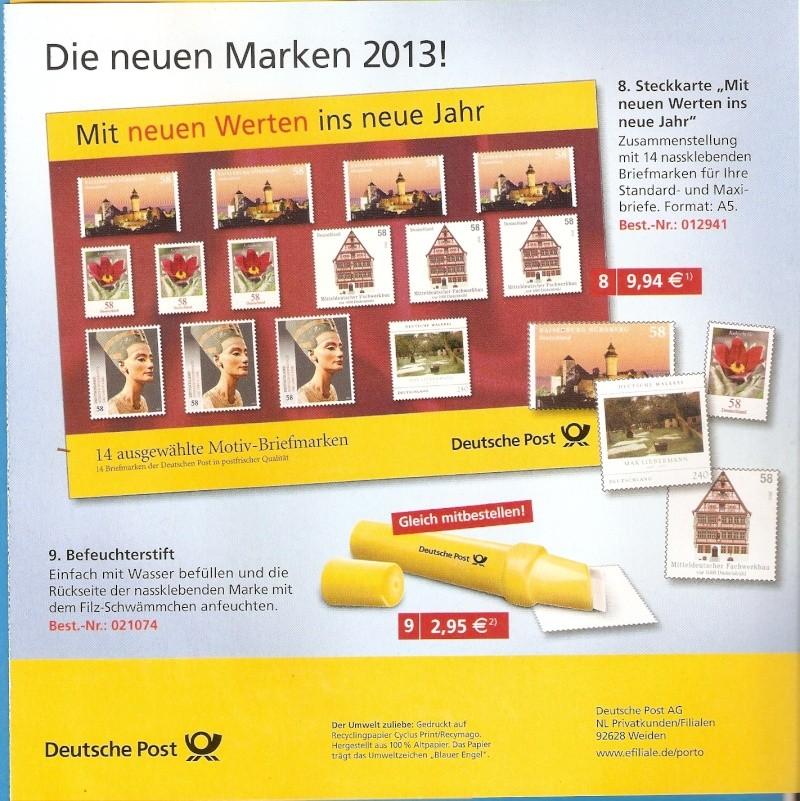 Deutsche Post: Die neuen Marken 2013 Scanne26