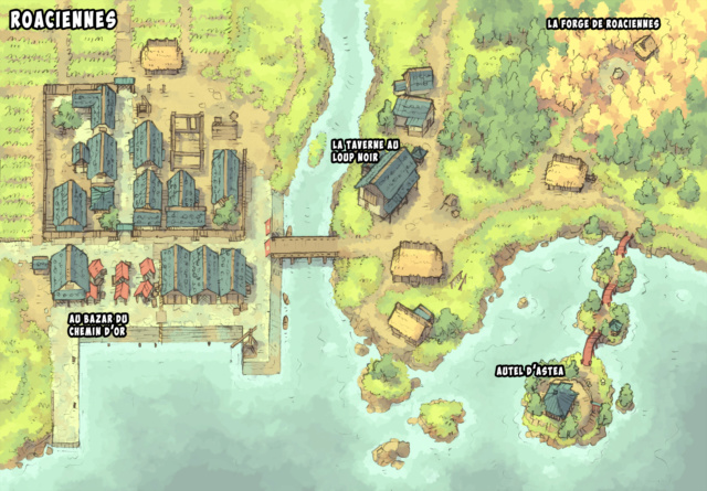 Carte du village de Roacienne Roacie12