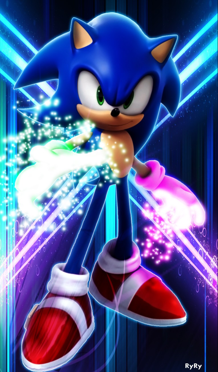Testing out glow particles effect. (Sonic) -Finished Product- Son_gl10