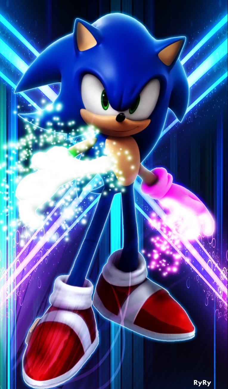 Testing out glow particles effect. (Sonic) -Finished Product- Sonic_11