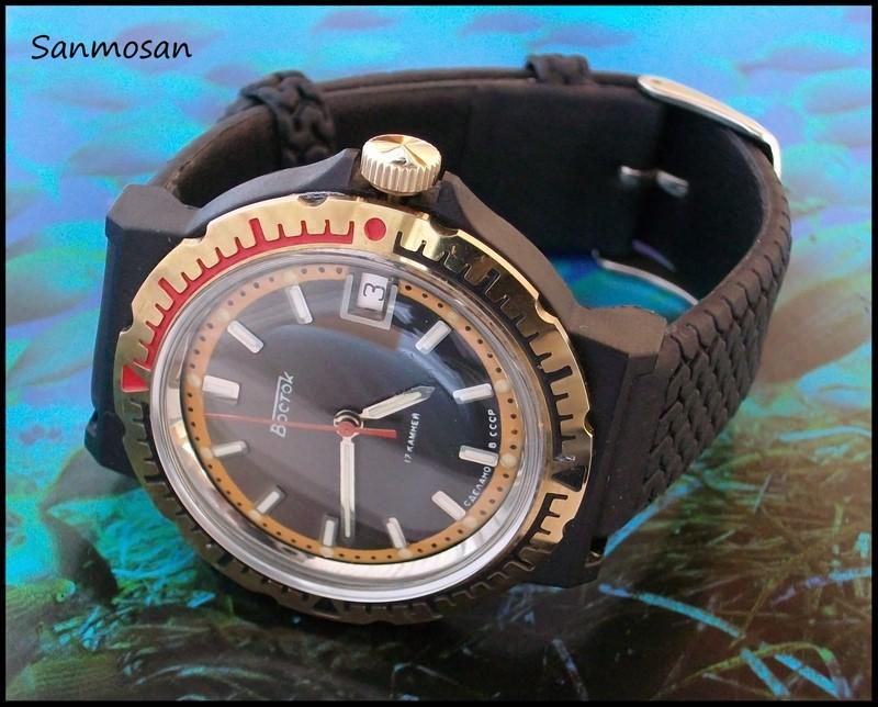 VOSTOK KOMANDIRSKIE watch *Black Plastic Case* Vostok10