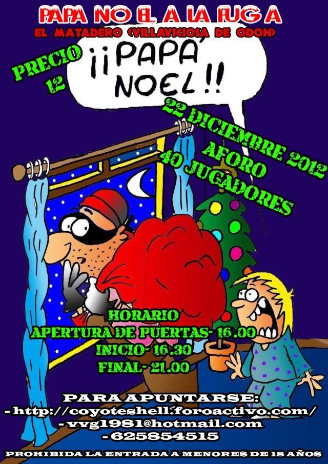 Papa Noel a la fuga, partida abierta (De Tarde) 22.12.12 El Matadero (Villaviciosa de Odon) Papano10