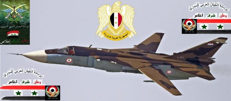 الطائرة القاذفة SU-24 : الطائرة التي كثر استخدامها في العمليات العسكرية التي يخوضها الجيش العربي السوري في دك اوكار المسلحين  Oouus_10