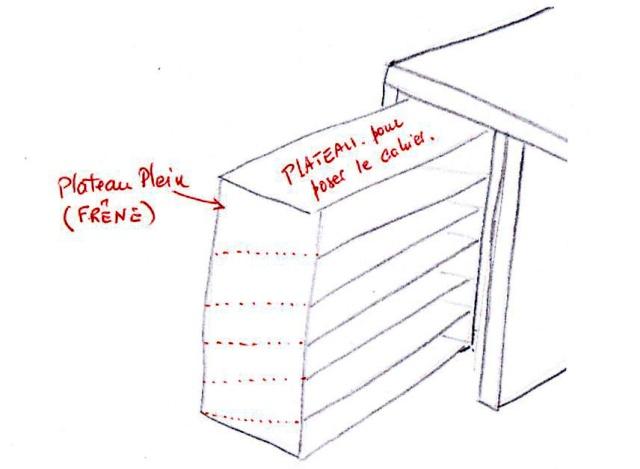 bureau - [Fabrication] Un bureau contemporain et simple…  Sapara10