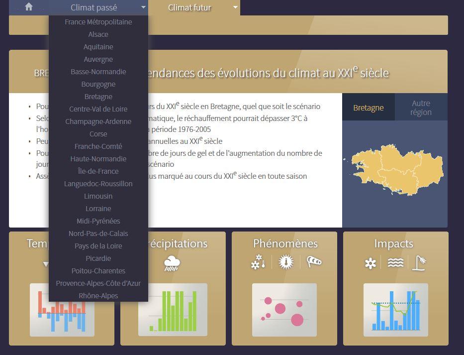 Pour anticiper les conséquences du changement climatique au niveau régional : Application Climat-HD  Drias_10