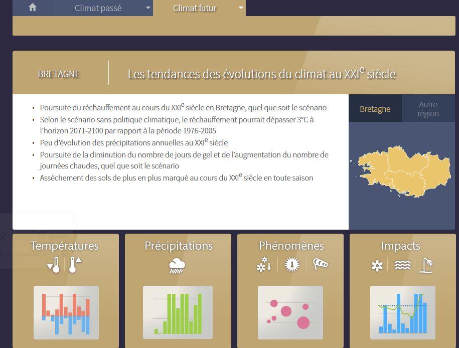 Pour anticiper les conséquences du changement climatique au niveau régional : Application Climat-HD  Drias_11