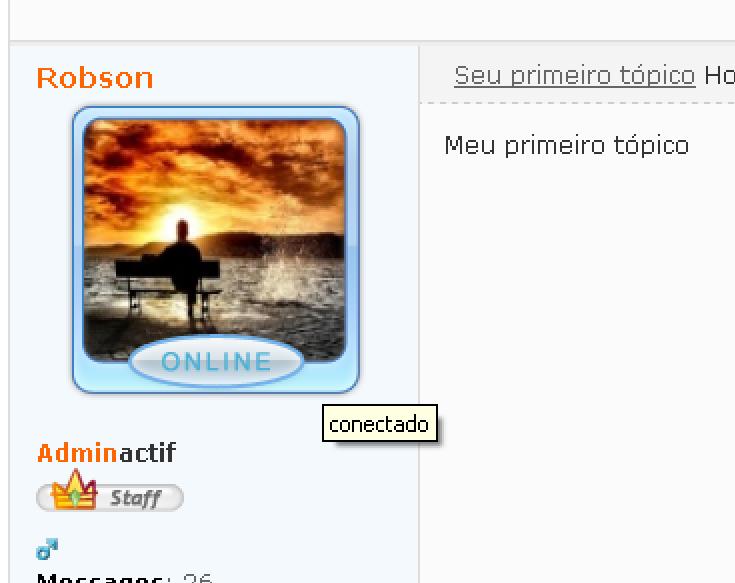 [TUTORIAL] Quadro online e offline no perfil do usuário Result10