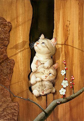 Makoto Muramatsu - японский художник забавных котов Makoto11