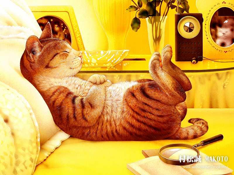 Makoto Muramatsu - японский художник забавных котов Makoto14