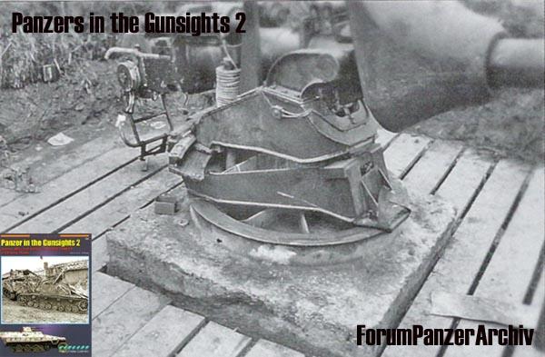 """Systeme """"D"""" - 88 d'un jagdpanther monté sur plate-forme Affut_10"""