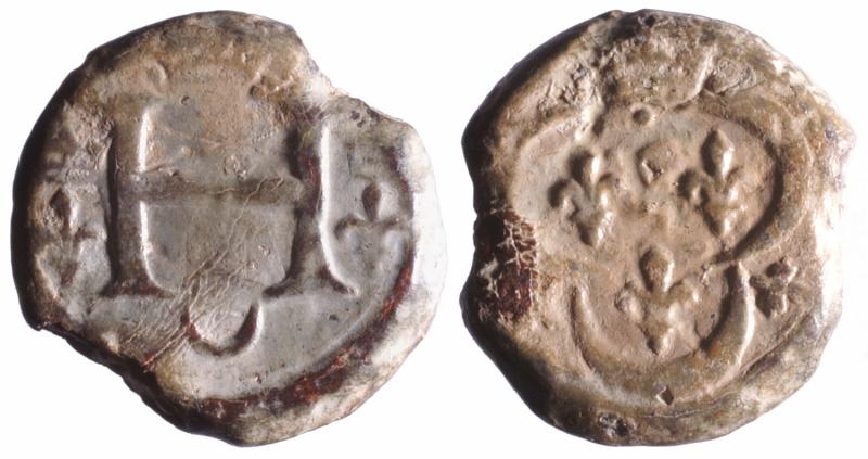 b) Plomb de la douane de Lyon  Henri II (1547-1559) D107510