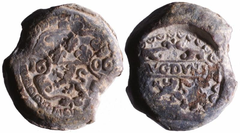 f) Plomb de la douane de Lyon Henri IV 1606 D123510