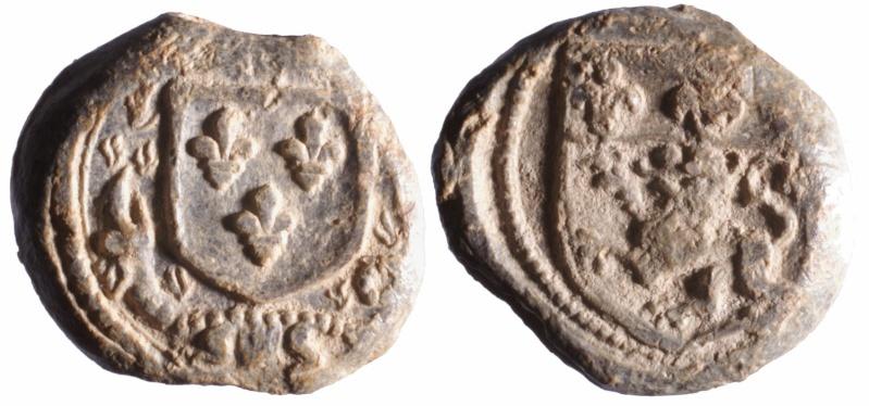 a) Plomb de la douane de Lyon François 1er (1515-1547) D68910