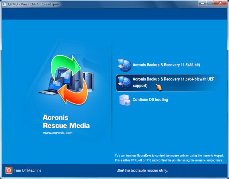 Acronis Backup & Recovery với Universal Restore Acroni13