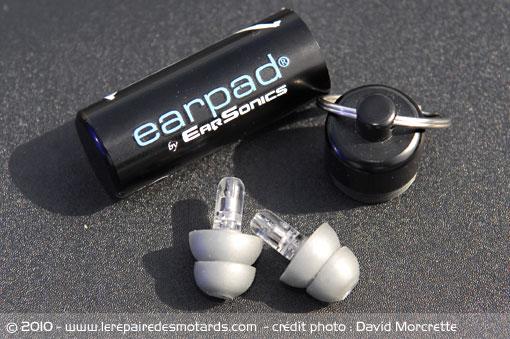 Bouchon d'oreilles pour motard Earson10