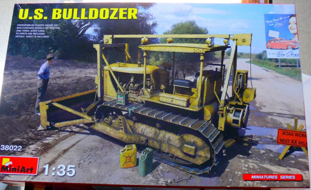 US Bulldozer Caterpillar D7 (en version civile)au 1/35 de MiniArt Bulldo10