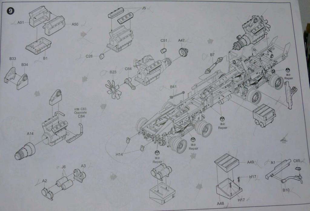 HEMTT M983A2 et Semi remorque M870A1 de TRUMPETER au 1/35 P1320936