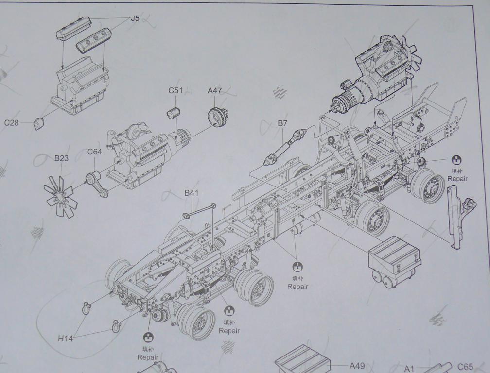 HEMTT M983A2 et Semi remorque M870A1 de TRUMPETER au 1/35 P1320937