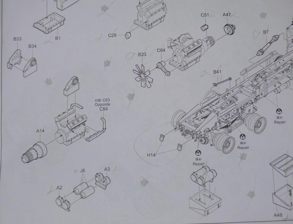 HEMTT M983A2 et Semi remorque M870A1 de TRUMPETER au 1/35 P1320939