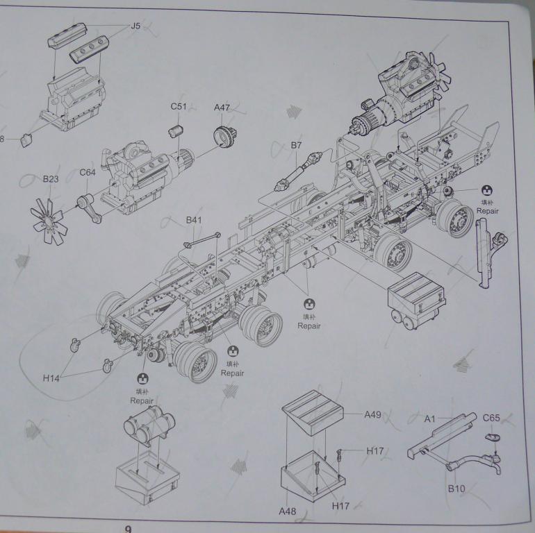 HEMTT M983A2 et Semi remorque M870A1 de TRUMPETER au 1/35 P1320940