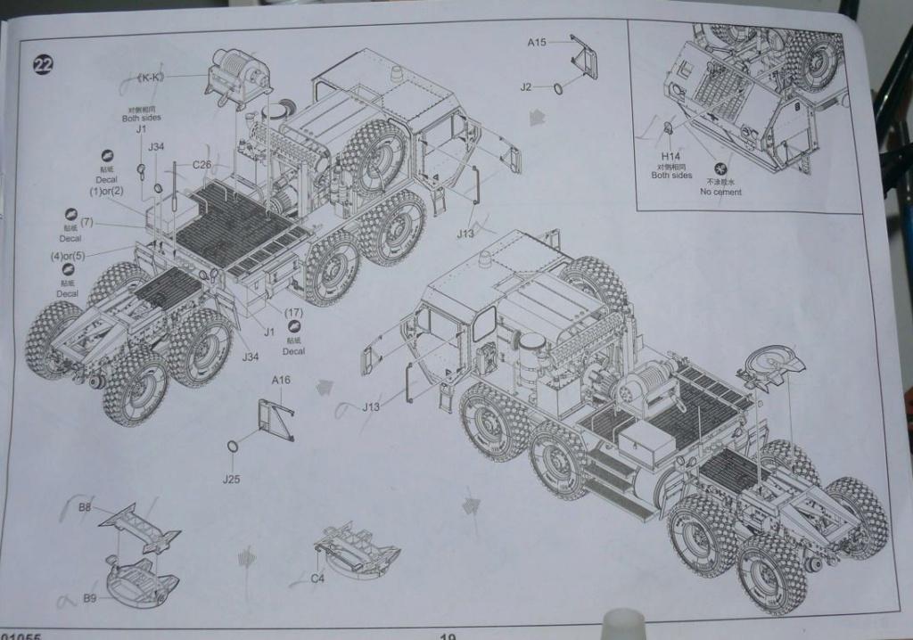 HEMTT M983A2 et Semi remorque M870A1 de TRUMPETER au 1/35 - Page 2 P1330112