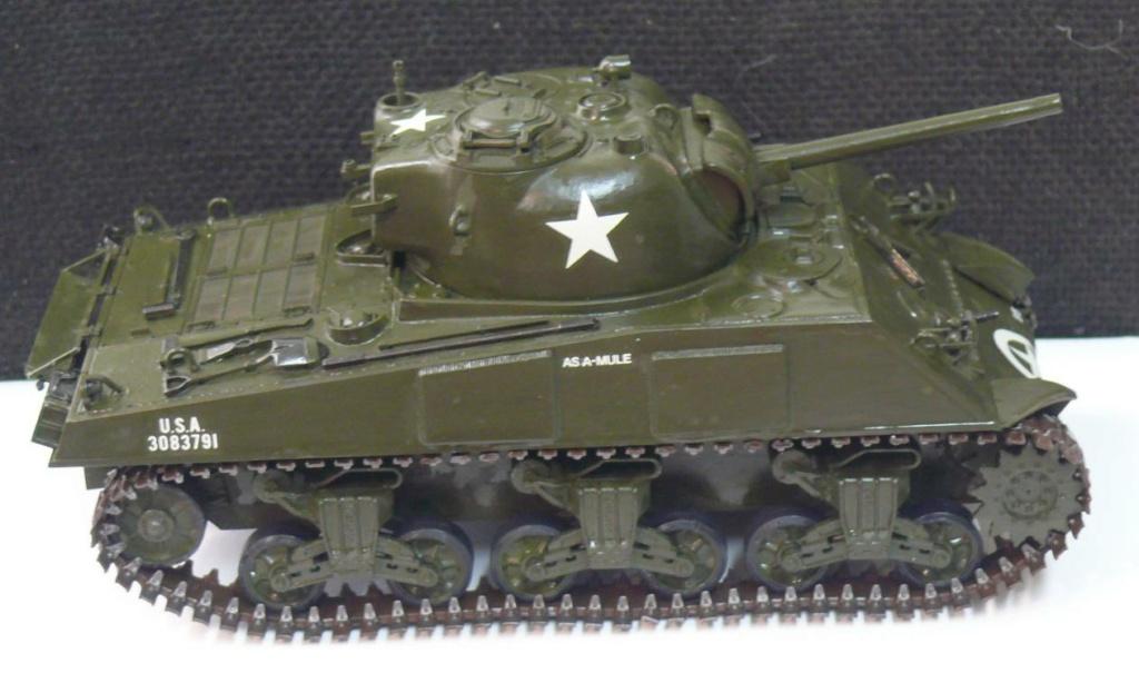 Sherman M4A3 d'e Tamiya au 1/35 + adaptation de Solution Box MIG Sherm102