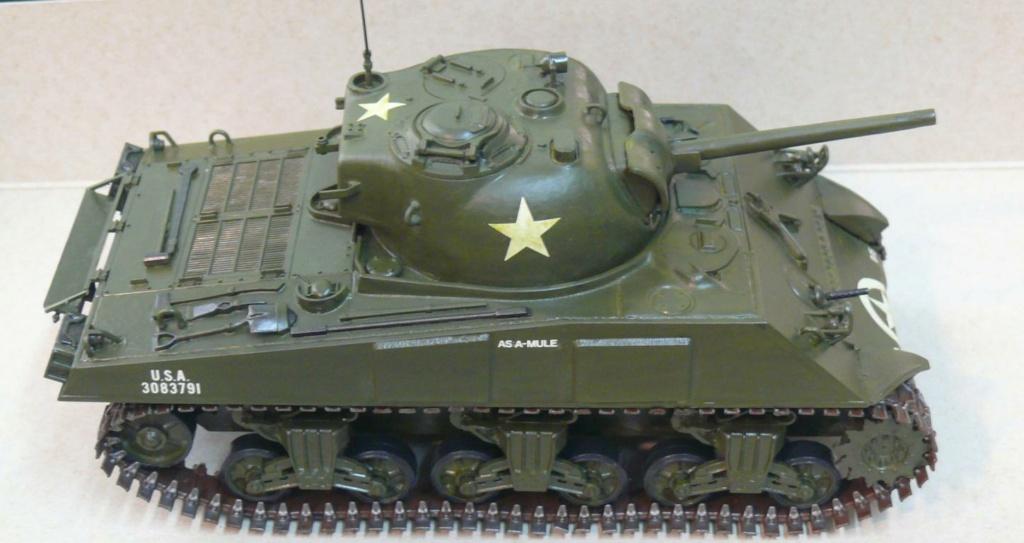 Sherman M4A3 d'e Tamiya au 1/35 + adaptation de Solution Box MIG Sherm109