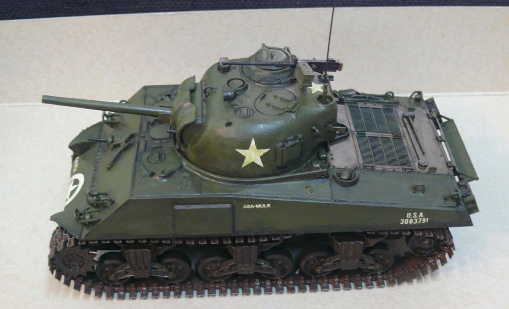 Sherman M4A3 d'e Tamiya au 1/35 + adaptation de Solution Box MIG Sherm112