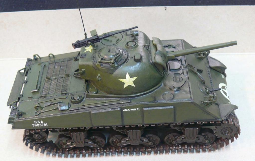 Sherman M4A3 d'e Tamiya au 1/35 + adaptation de Solution Box MIG Sherm114