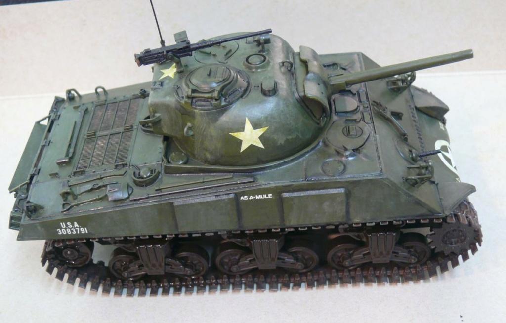 Sherman M4A3 d'e Tamiya au 1/35 + adaptation de Solution Box MIG Sherm120