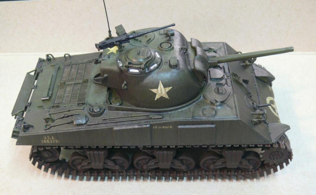 Sherman M4A3 d'e Tamiya au 1/35 + adaptation de Solution Box MIG Sherm123