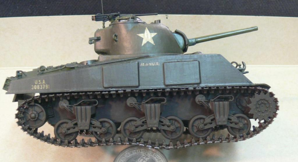 Sherman M4A3 d'e Tamiya au 1/35 + adaptation de Solution Box MIG Sherm125