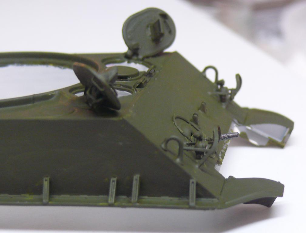 Sherman M4A3 (E8) HVSS de Rye Fields Model au 1/35 avec intérieur complet détaillé Sherm245