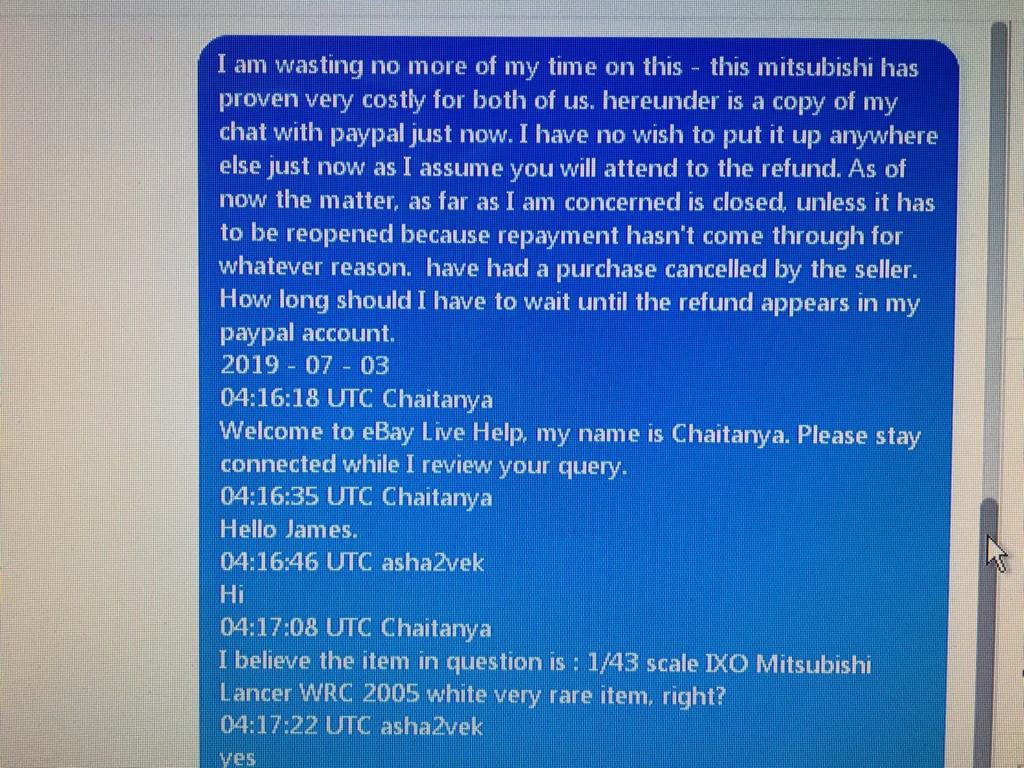 Ebay behaviour of forum member Steven Shaw Shaw_610