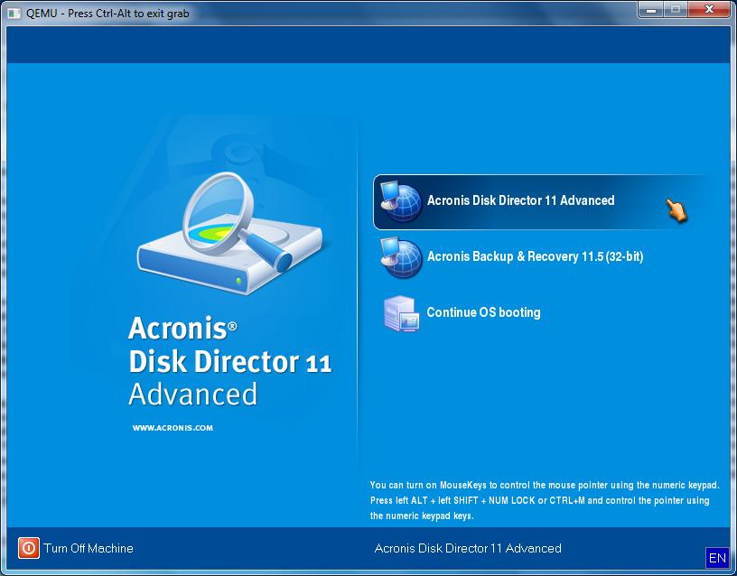 Acronis Disk Director - quản lý và phân vùng ổ đĩa Acroni12
