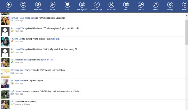 Các ứng dụng được viết lại cho Windows 8 đã có trên Windows Store Facebo15