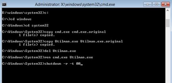 Thay đổi mật khẩu đã quên trên Windows 8 Window27