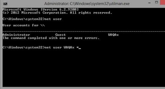 Thay đổi mật khẩu đã quên trên Windows 8 Window29