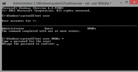 Thay đổi mật khẩu đã quên trên Windows 8 Window30