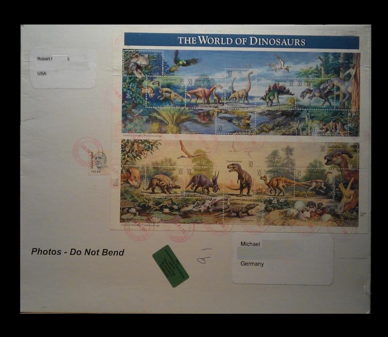 Paleophilatelie: Paläontologie und Philatelie  Usa_1910
