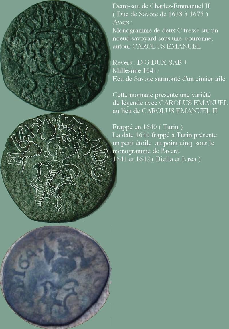 Mezzo soldo de Charles-Emmanuel II 357-3a11