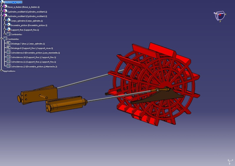 Construction d'un bateau à roue à aube : le Mississippi 1870 Dessin10