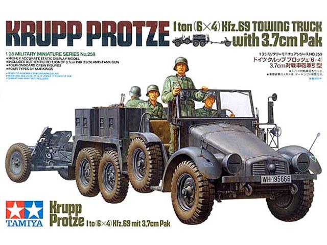 Krupp Protze kfz.69 with 3.7cm Pak Tamiya 1/35 [Terminé] 13321810
