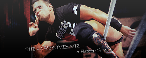 Because i'm the Miz, and i'm ... Awesome.  Haters10