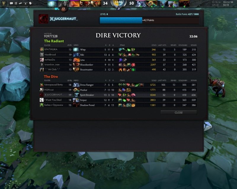 JUGGERNAUT VICTORY SPREE Dota0013