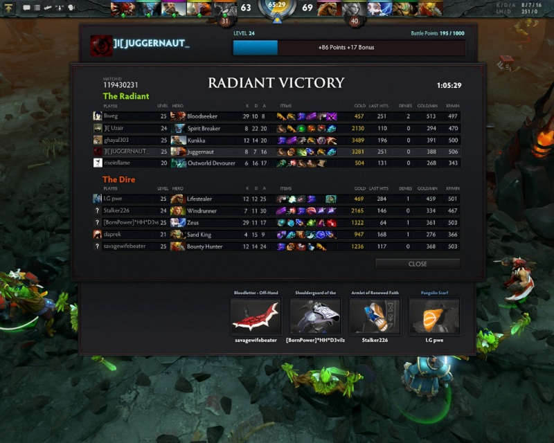 Some of the Awesome games :) Dota0017