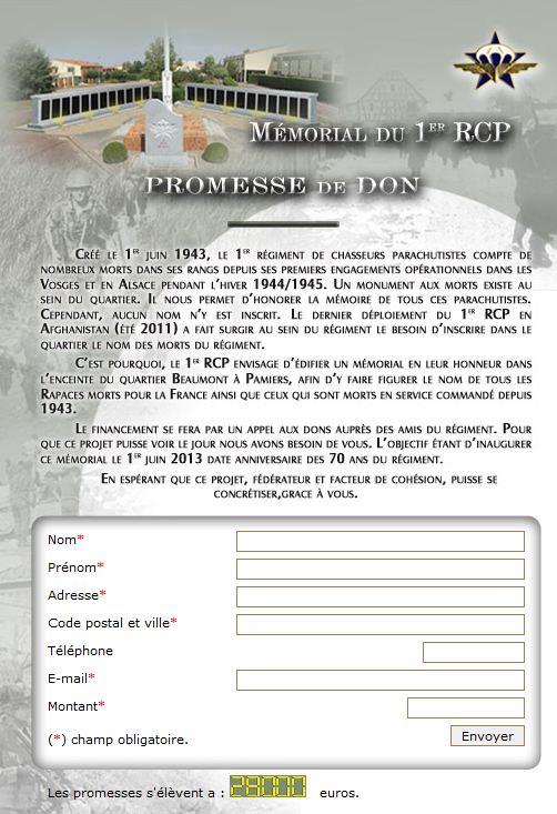 MÉMORIAL DU 1er R. C. P. à Pamiers (Quartier capitaine Beaumont.) 1er_rc11