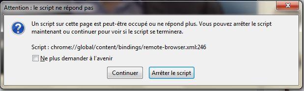 Problème Connexion et Navigateur Firefox Script10